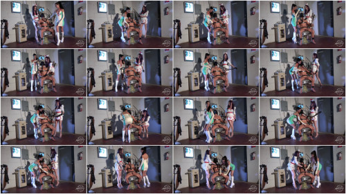 KinkyMistresses - The Slave on the Dentist Chair Femdom and Strapon