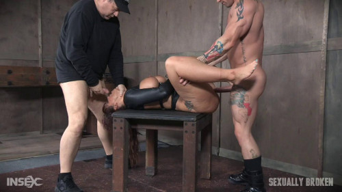 Hot Cougar is helpless in a straight jacket BDSM