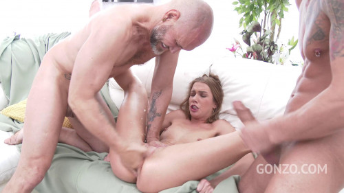 Alexis Crystal does triple penetration for the first time with four monster cocks Orgies
