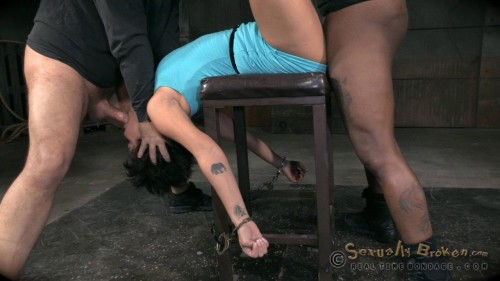 Eager and willing Mia Austin handcuffed and roughly fucked