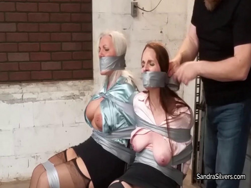 Sandra Silvers & Christina Sapphire - Secretar Damsels in Distress Extreme