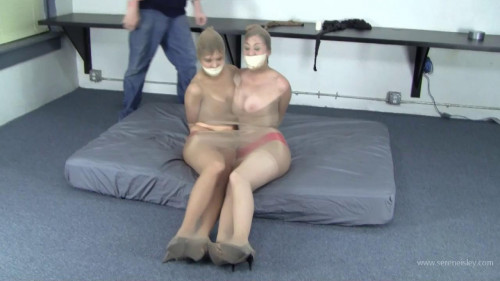 Candle Boxxx & Serene - 2 Girls, 6 Pairs of Pantyhose, 1 Roll of Duct Tape