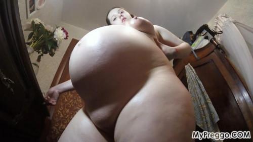 Valery Films Her Massive Pregnant Belly! Pregnant