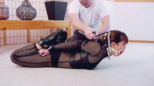 Leather Cuff Hogtie Asians BDSM