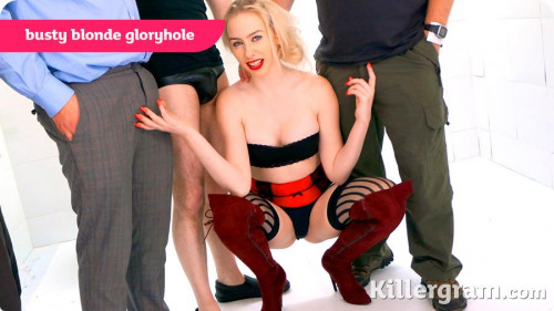 Busty Blonde Gloryhole