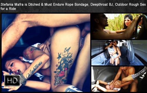 SexualDisgrace - Mar 06, 2015 - Stefania Mafra is Ditched & Must Endure Rope Bondage
