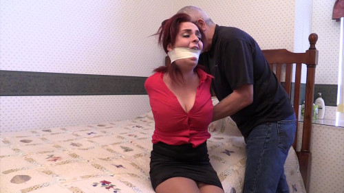 Ashlee Graham-Tired of my excuses, he stuffed a gag in my mouth!