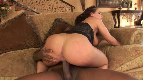 Huge black dick for big white booty