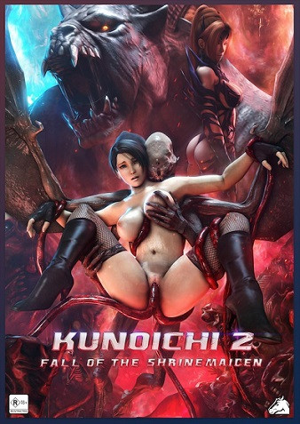 Kunoichi part 2: Fall of the Shrinemaiden & Beastly Bacchanalia 3D Porno