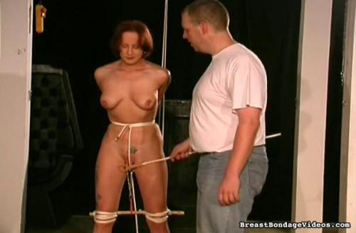 Leather Clad Breast Bondage