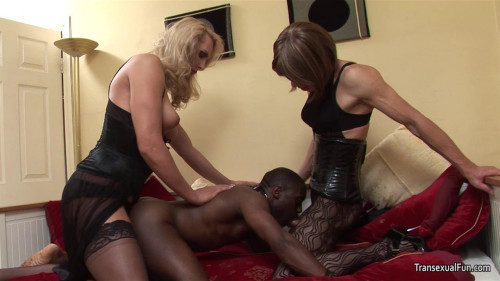 Shemale Mistress with another shemale and black sub guy Alison Dale, Zoe Fuckpuppet (2016)