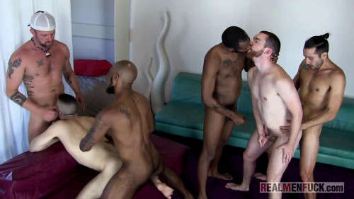 RmF - Real Men Hot Beard Orgy Bareback