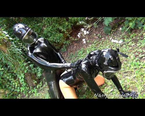 Outdoor Rubber Sex, Finger, Strap-On, Gas Masks Part Two