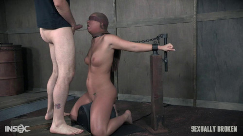 Deepthroated and fucked while helpless-rough bdsm porn