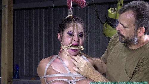 Gia Rides the Horse While Bound in Nylons - Part 3