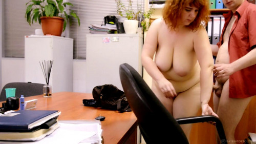 bbw redhead mature katrin fucked at the office