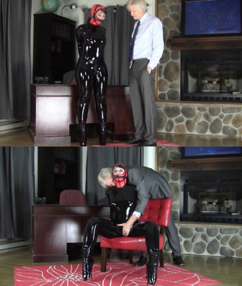 Tight restraint bondage, domination and ache for hot sissy model
