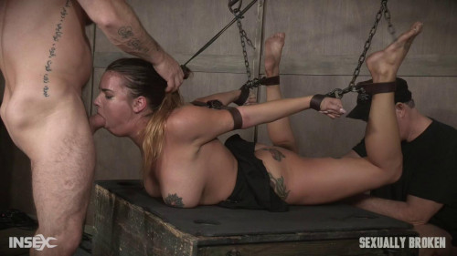 First restraint bondage and coarse sex experience