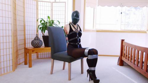 Mina Velvet Thong Bodysuit and Panic Hood (2018) Asians BDSM