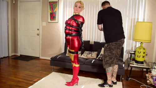 Super bondage, domination and hogtie for very hot girl BDSM Latex