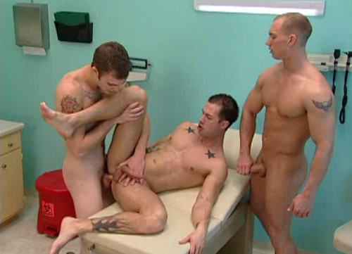 Horny hung interns barebacked hard