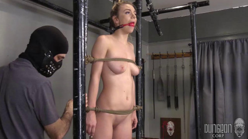 Her neck is also tied up BDSM