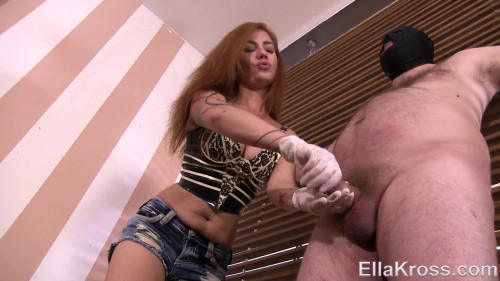 Handjob Tease and Deny... Controlling His Orgasm Femdom and Strapon