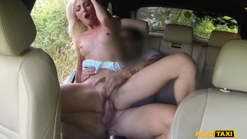 Katy Rose - Short Skirt Minx Rides Cock in Taxi (2016)