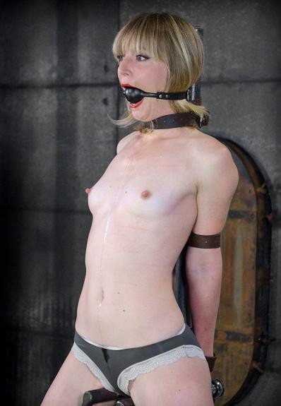 Sweet girl trying BDSM