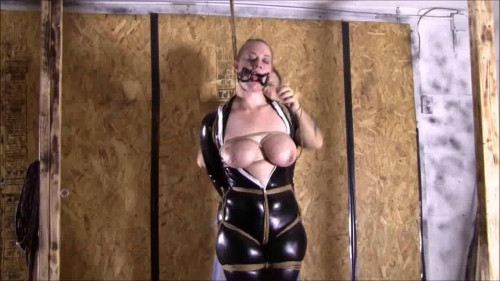 He Hogtied Me To A Post Upside Down BDSM Latex