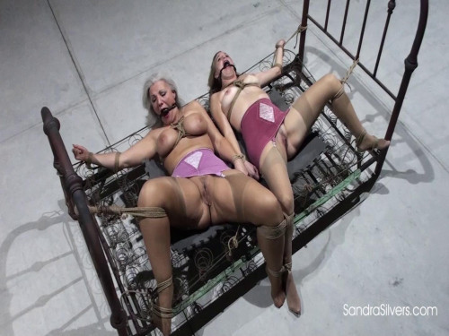 Pair of Girdled MOTHER ID LIKE TO FUCK Captives Spread and Brought to Screaming Bound Orgasm