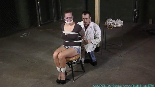 Brenda Chair Tied, Hooded, Breast Bound, and Hung - Part 1 BDSM
