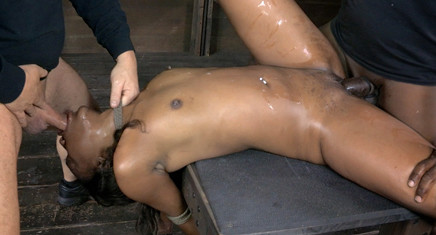 Chanell Heart Fucked Hard And Put Away Wet Brutal Deep Throat Tag Teamed And Worked Over By BBC