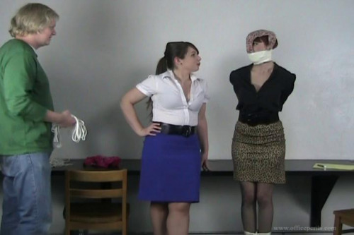 Natalie Minx and Elizabeth Andrews - Pretty Secretary Natalie receives pants p