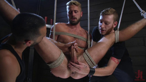 Wesley Woods Gets Plugged and Edged in Full Suspension HD Gay BDSM