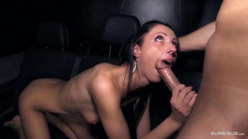 German brunette July Sun gets fucked in the car till she tastes some cum Amateur Porn