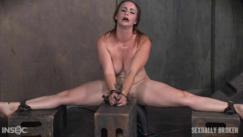 Bella Rossi and her Huge tits, and booming body are bound on a Sybian