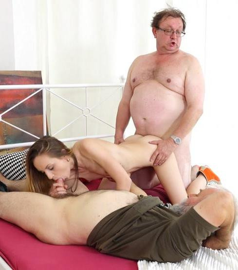 Natalia Pearl - Grandpas sandwich fresh cutie FullHD 1080p Old and Young