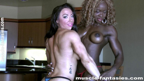 Brandie Mae Akers & Angel Curvz Female Muscle