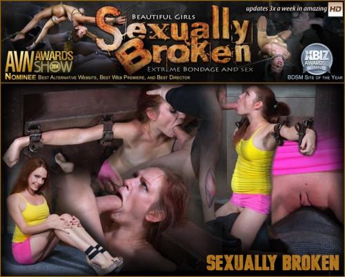 Bondage newbie, Kassondra Raine struggles to keep up with orgasms and face fucking.
