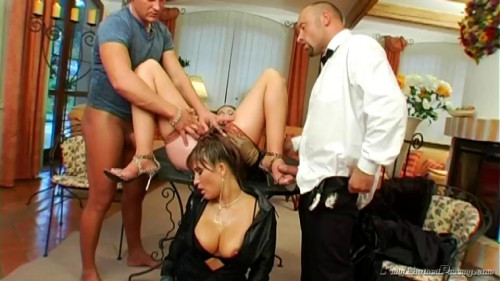 A Classy Piss Scene In Leather and Fur