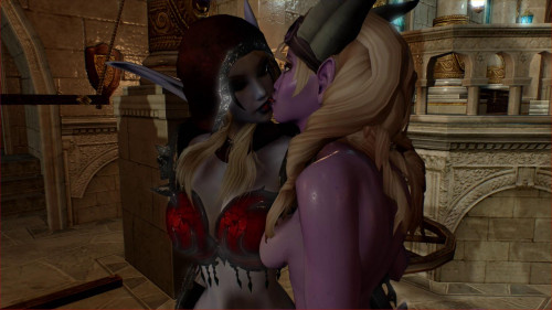 Sylvanas Windrunner And Draenei Like Sex 3D Porno