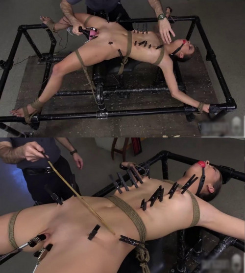Hard bondage, spanking, strappado and torture for young girl (part 3)