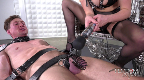 Giselle Palmer - Caged Cock Tease Femdom and Strapon