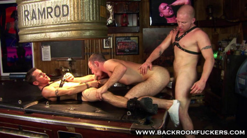 Pooltable Threesome Gay Anal Sex