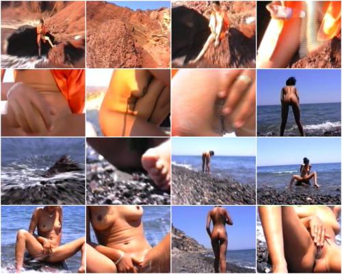 Nudist gets naughty