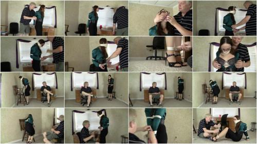 Crystal Clark - Filing Training With Mr Big Boss