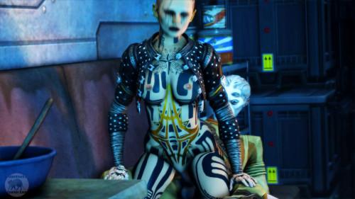 Blue Star EP2 - The Ship [2017,Lesbian,Anal,Mass Effect]
