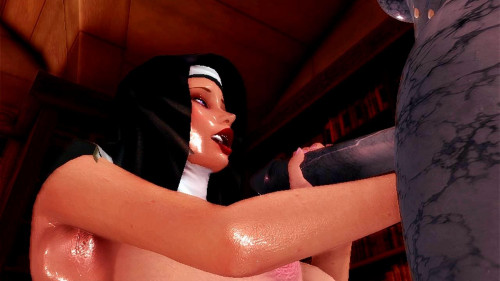 Exorcise The Cock [2016,3DCG,Footjob,Demon]