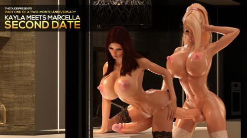 Kayla Meets Marcella - Second Date Mini Set (Kitchen Fuck) [Huge Cock,3DCG,Big Breasts]